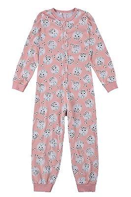 Pijama macacão manga longa estampado malwee