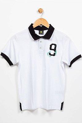 Camiseta juvenil manga curta gola polo lemon