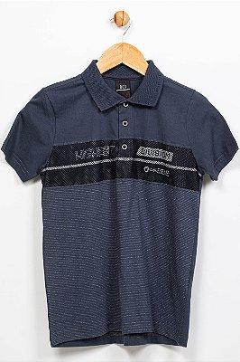 Camiseta juvenil polo manga curta com tela bgo