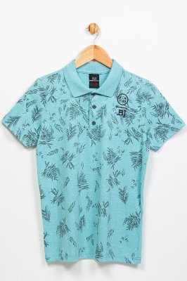 Camiseta juvenil manga curta gola polo bgo
