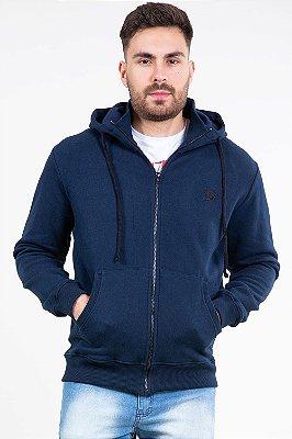 Jaqueta moletom com capuz e bolso