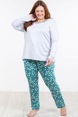 Pijama longo plus size malwee