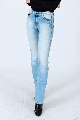 Calça jeans  boout cut clara