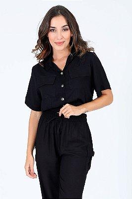 Camisa viscose  manga curta