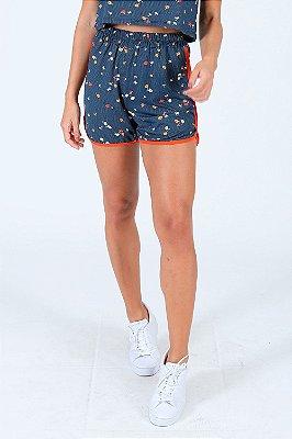 Shorts com elástico estampa floral