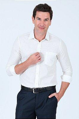 Camisa lisa manga longa