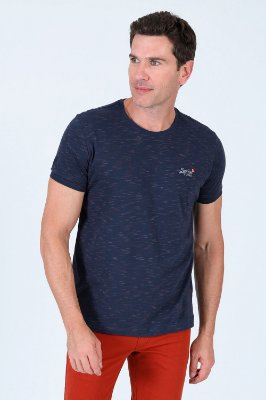 Camiseta de malha flamê