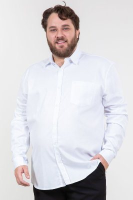 Camisa manga longa lisa plus size