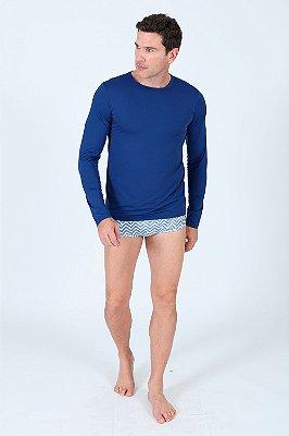 Camiseta praia manga longa com proteção uv50