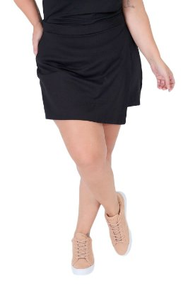 Shorts saia transpassado plus size