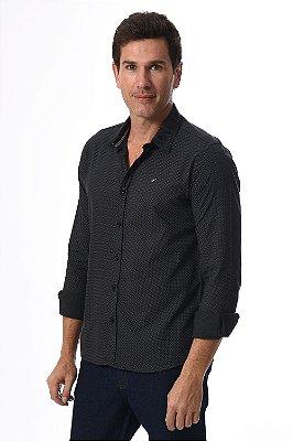 Camisa manga longa slim poá
