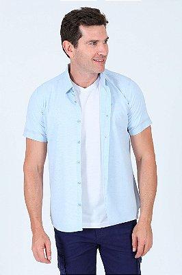 Camisa manga curta em algodão