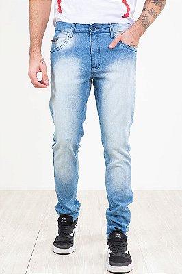 Calça jeans slim lavagem clara