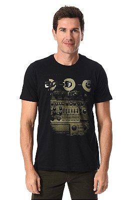 Camiseta manga curta com estampa frontal