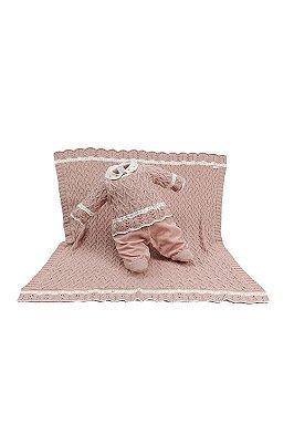 Saída maternidade beatriz plush sobreposicão tricot Bethe bebê