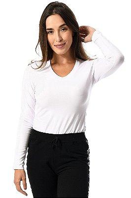 Blusa manga longa decote v