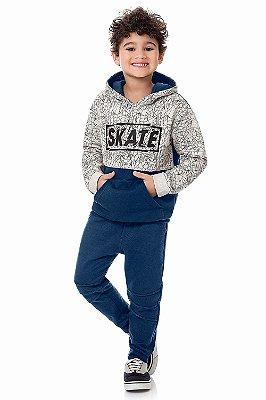 Conjunto infantil blusão e calça moletom