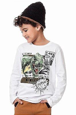 Camiseta infantil manga longa com estampa
