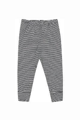 Calça (culote) pé reversível listrado em suedine