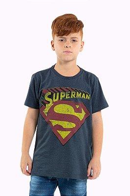 Camiseta juvenil manga curta superman