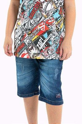 Bermuda jeans juvenil