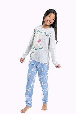 Pijama juvenil estampa brilha no escuro kyly