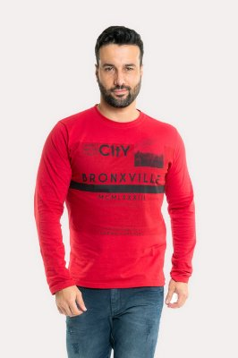 Camiseta manga longa estampa bronxville