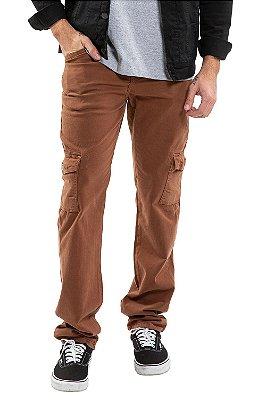 Calça masculina sarja cargo