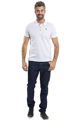Camisa pólo manga curta golacom 3 botões