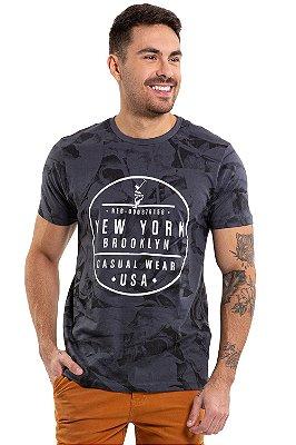 Camiseta manga curta print new york