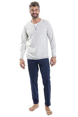 Pijama malha com listras pzama