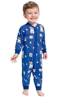 Pijama infantil longo em moletom kyky