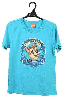 Camiseta manga curta estampa adventure bay paw patrol