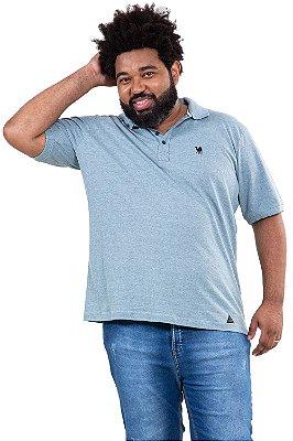 Camisa polo manga curta piquet plus size