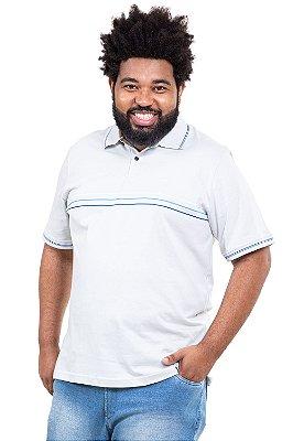 Camisa polo manga curta plus size