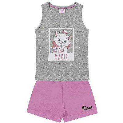 Conjunto infantil busa/shorts marie