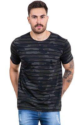 Camiseta manga curta camuflada