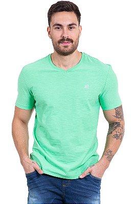 Camiseta manga curta flamê