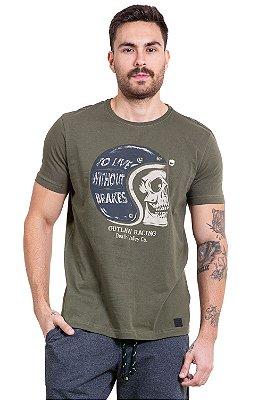 Camiseta manga curta estampa to live without brakes
