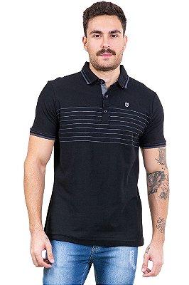 Camisa polo manga curta c/ botões em piquet