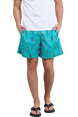 Shorts cós c/ cadarço sublimado peixes