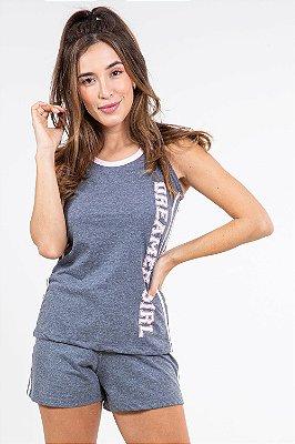 Pijama detalhe em viés pzama