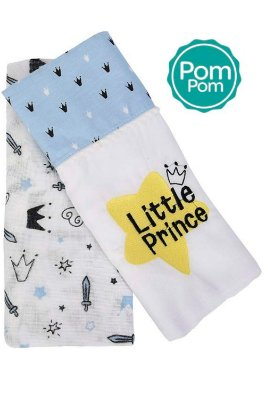Kit toalha fralda 2 peças reino encantado