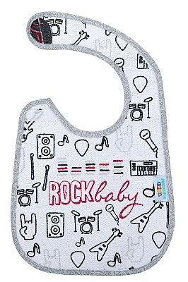 Babador atoalhado rock baby