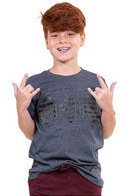 Camiseta juvenil  manga curta batman