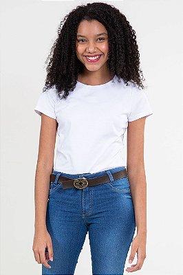 Blusa juvenil manga curta básica