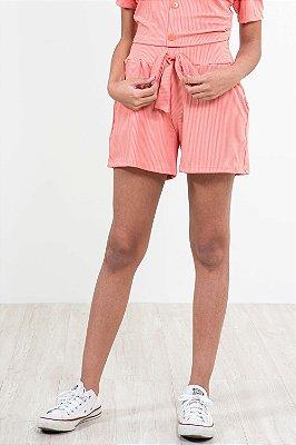 Shorts juvenil cós c/ elástico e amarração