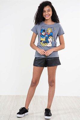 Shorts juvenil com bolso  em cirrê