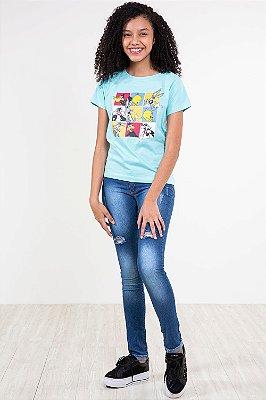 Calça jeans juvenil destroyd
