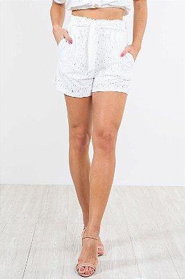 Shorts detalhe amarração em laise